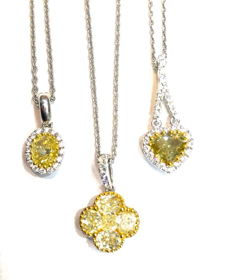 Fancy yellow diamond pendants sheryl jones designs fancy yellow diamond pendants aloadofball Images