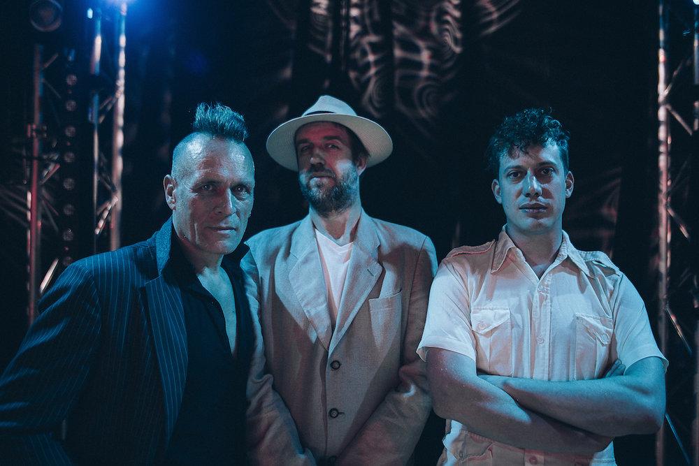 John Robb, John Doran, Luke Turner. Photographed by  Aubrey Simpson .