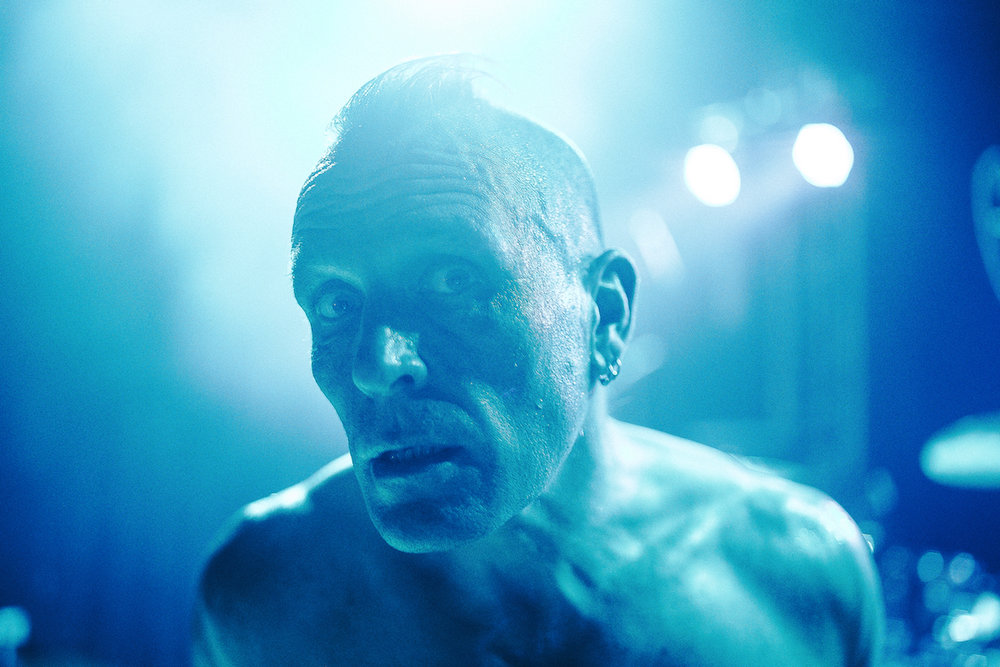 John Robb of The Membranes. Photographed by  Aubrey Simpson .