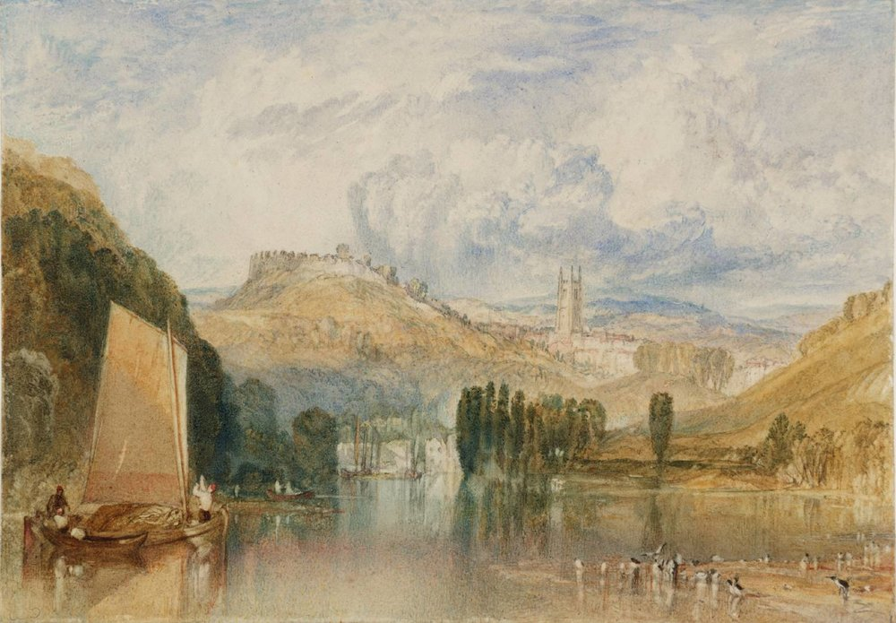 'Totnes, on the River Dart' . Joseph Mallord William Turner, c.1824.