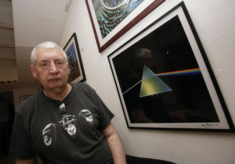 "PHOTO: The ""Dark Side of the Moon"" prism is one of rock's most recognizable album covers. But it was almost a picture of a superhero instead. To create the cover, Pink Floyd turned to Storm Thorgerson (above), a longtime friend and graphic designer who, through his company Hipgnosis, had created much of the band's artwork. He came back to them with a photographic representation of Marvel's Silver Surfer character, which was instantly rejected. - Newsweek"