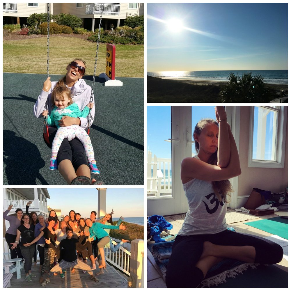 Scenes from Emerald Isle, NC at Professional Yoga Therapy Training with Ginger Garner