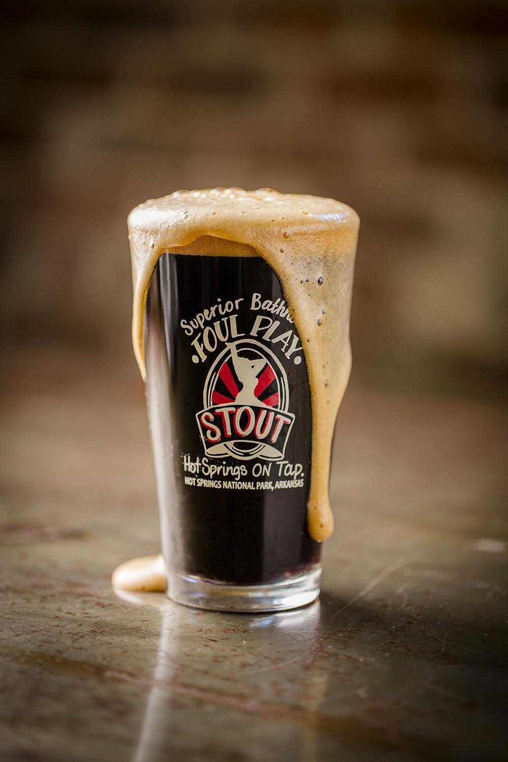 Foul Play Stout - Playful, complex, and beautiful.  British chocolate and black malts provide the color while oatmeal and roasted malts provide a creamy mouth-feel and coffee-like flavor.
