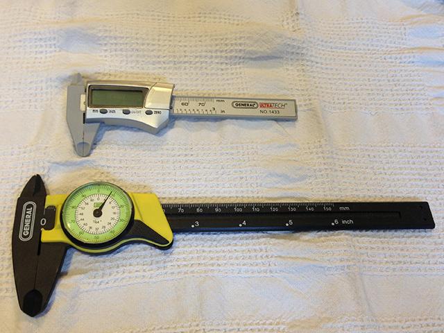 Digital and dial calipers