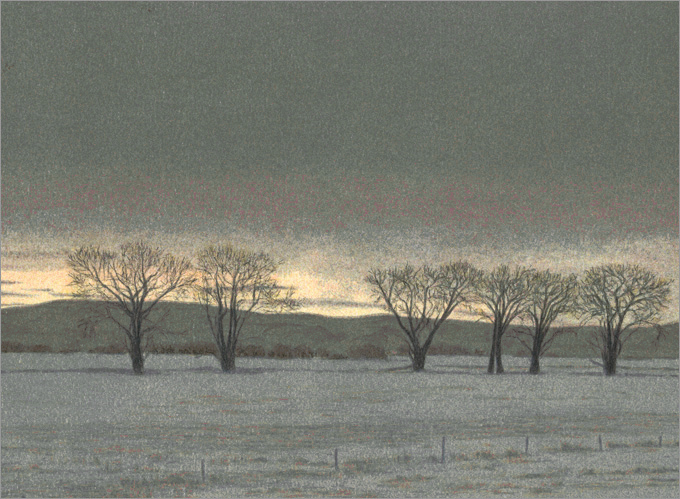 "Twilight at Clearmont  10 x 13.5"" original lithograph 20 plates 2009"