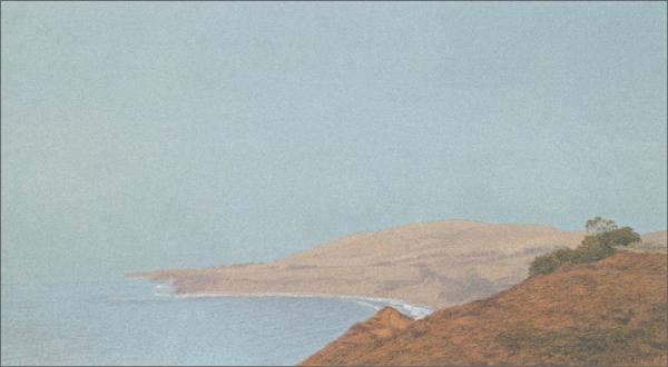 "Big Drakes, Hollister Coast  10 x 18"" original lithograph 22 plates 2009"
