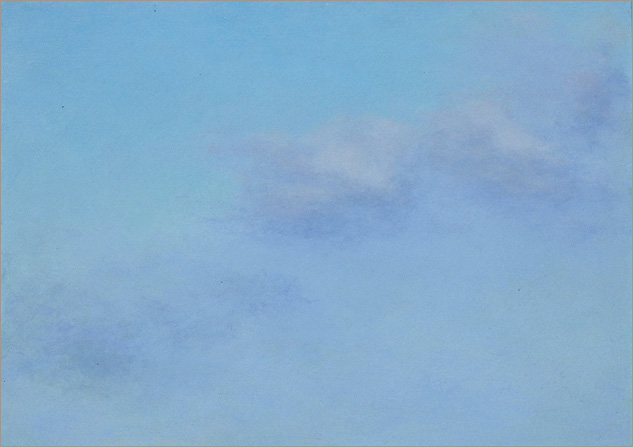 "Cloud Study, Pink-Lavender  5 x 7""  oil on panel  2006"