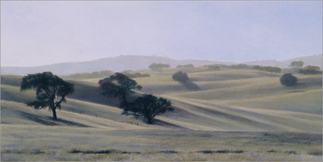 "North of Paso Robles  8 x 16""  oil on panel  2007"