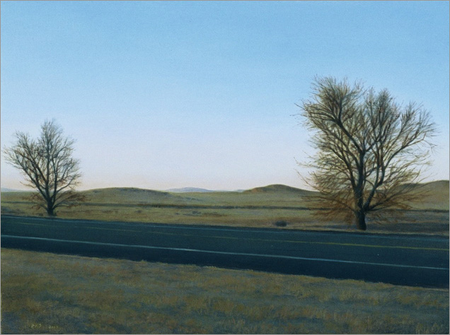"Outside Marfa, Texas  6 x 8""  oil on panel  2007"