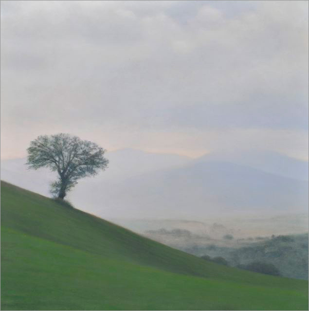 "Le Marche  8 x 8""  oil on panel  2008"