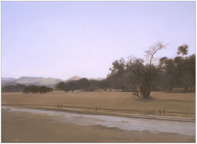 "Winter Landscape at Newhall Ranch  6 x 8""  oil on panel  2006"