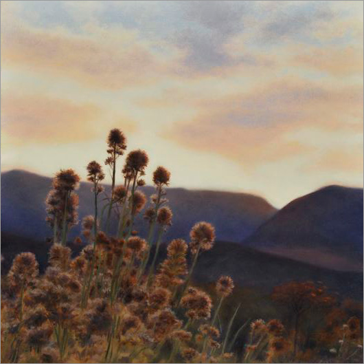 "Fall Light, Eastern Sierra  8 x 8""  oil on panel  2008"