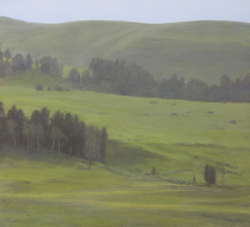 "Summer, Lamar Valley 10 x 11"" oil on panel 2015"