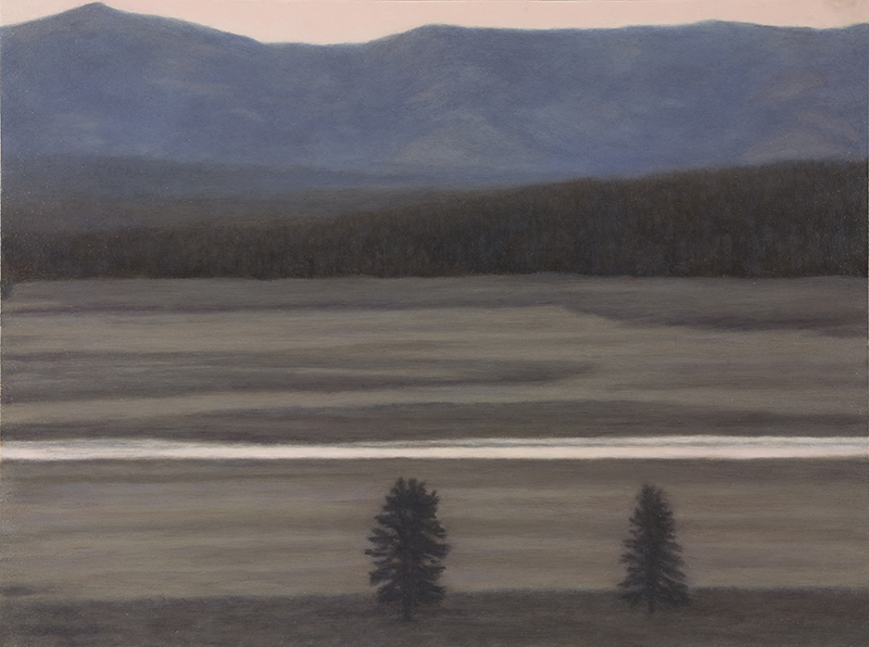 "Yellowstone River, Hayden Valley 9 x 12"" 2015"