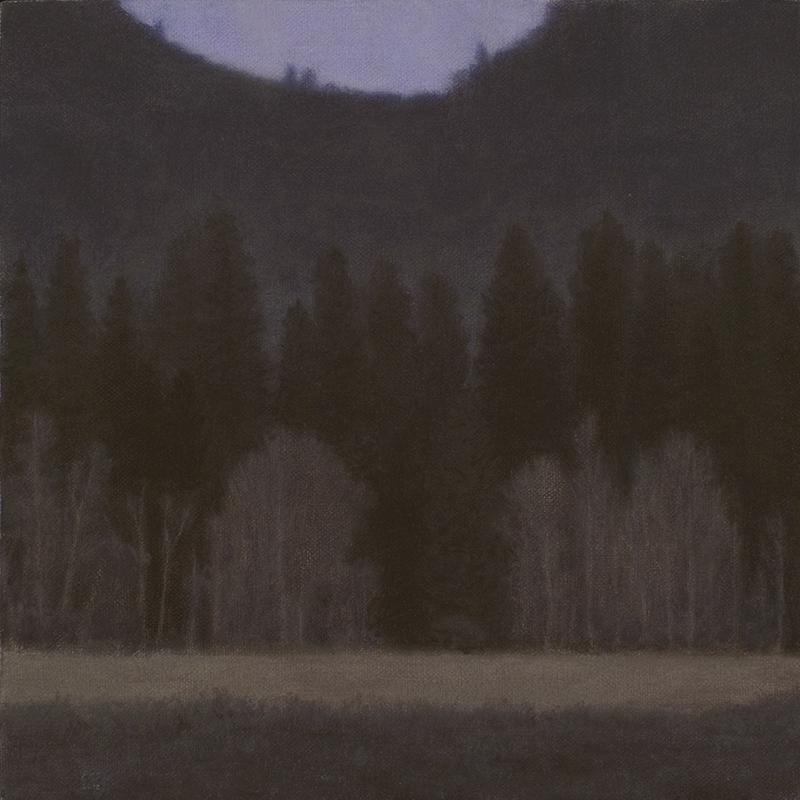 """Yosemite Valley at Dusk 10 x 10"""" oil on linen 2012"""