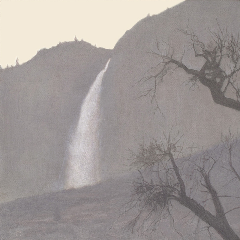 "Yosemite Fall 8 x 8"" oil on linen 2012"