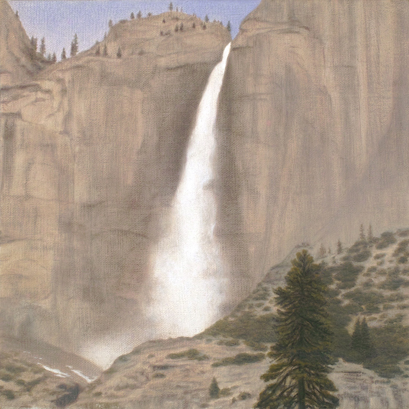 "Yosemite Fall 10 x 10"" oil on linen 2012"