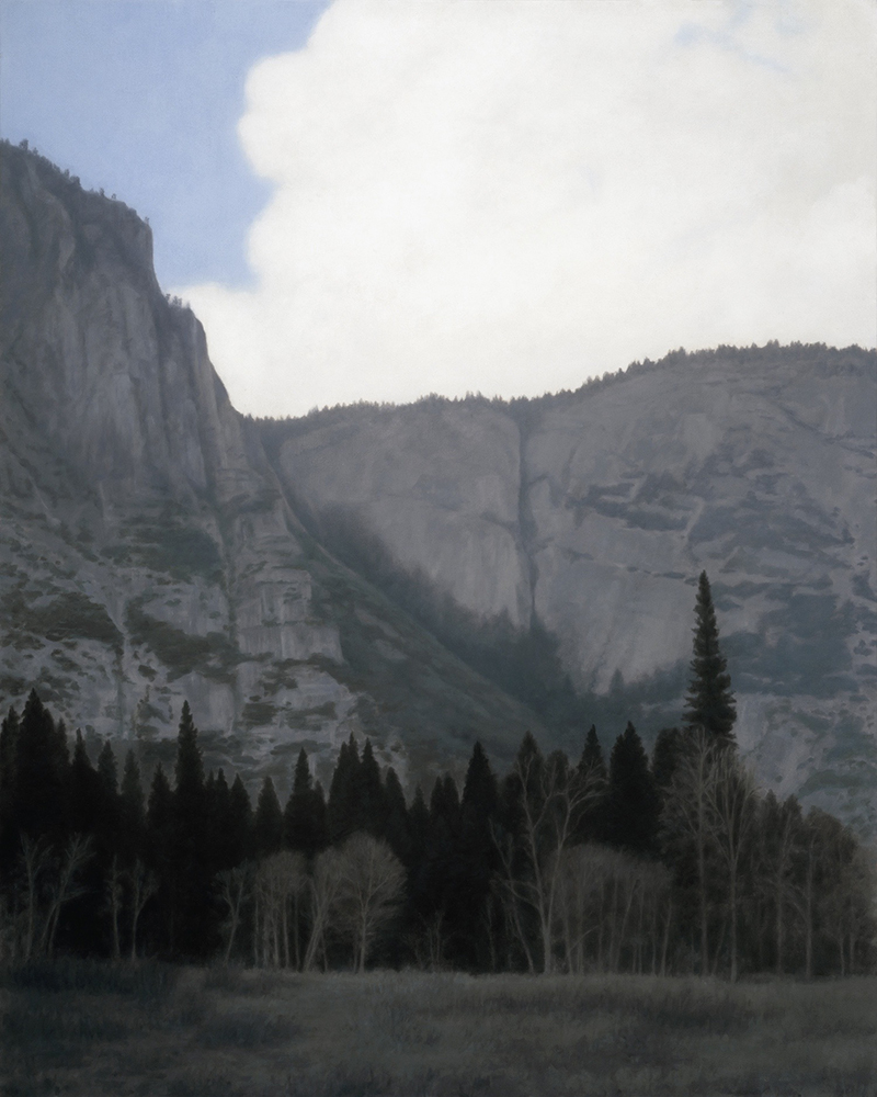 "Thundercloud, Yosemite Valley 30 x 24"" oil on canvas 2012"