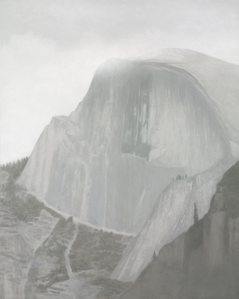 "Half Dome 30 x 24"" oil on canvas 2012"