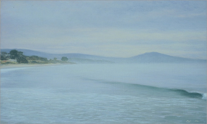 "High Tide, Miramar Beach  5 x 8""  oil on panel  2006"