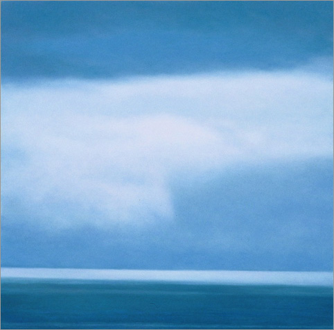 "In Between: Cloud and Ocean  12 x 12""  oil on panel  2007"