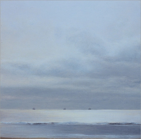"Brilliant Ocean  5 x 5""  oil on panel  2006"