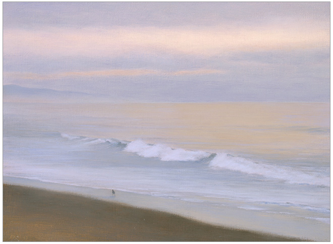 "Solitude, Miramar  6 x 8""  oil on panel  2005"