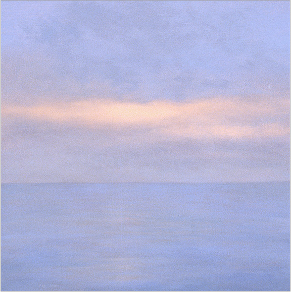 "Luminous Pacific  8 x8""  oil on panel  2006"