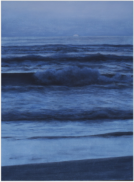 "Wave  12 x 9""  oil on panel  2002"
