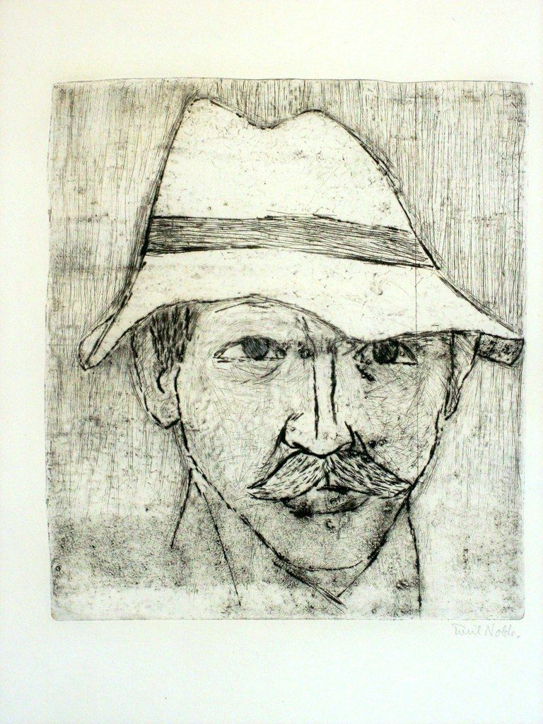 Nolde Self-Protrait  Drypoint with Etching and tonal etching, 1911