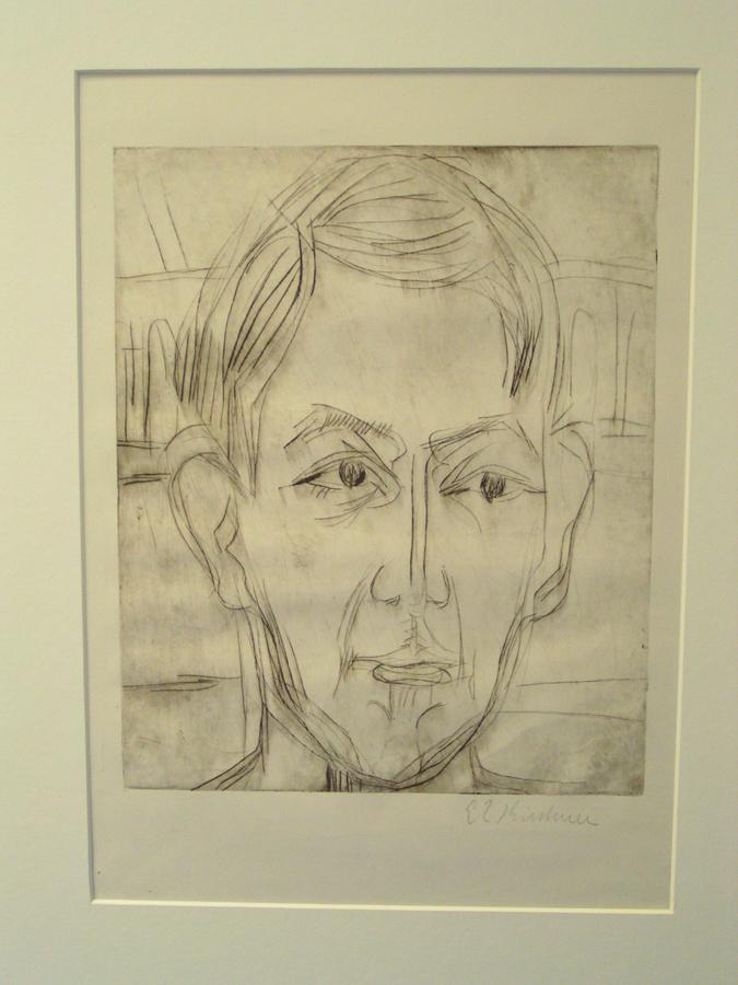 """Kirchner, """"Kopf eines jungen mannes (Dr. Hans Bütow)"""""""