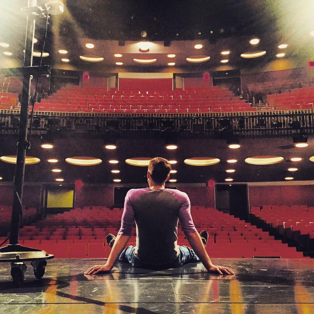 The Sondheim Theatre, between shows