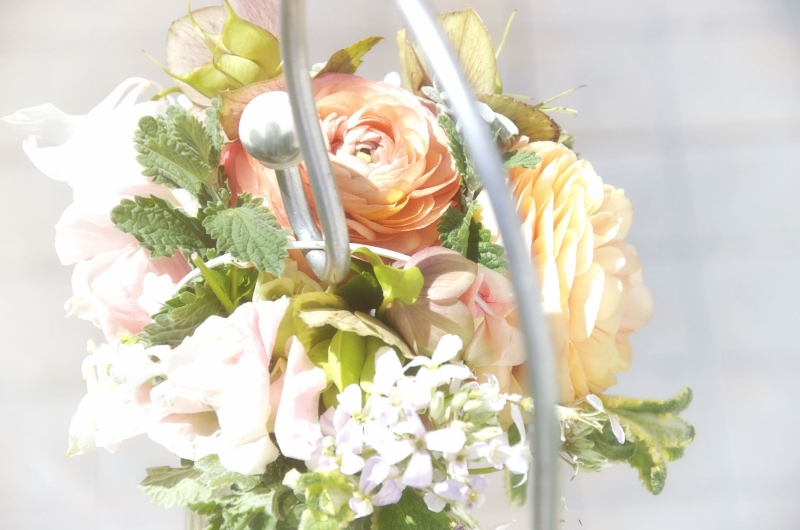 Ranunculus in a spring wedding posy