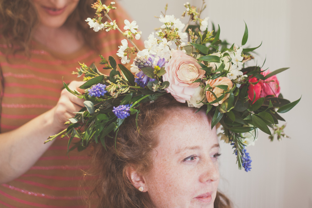 Spectacular finished flower crown