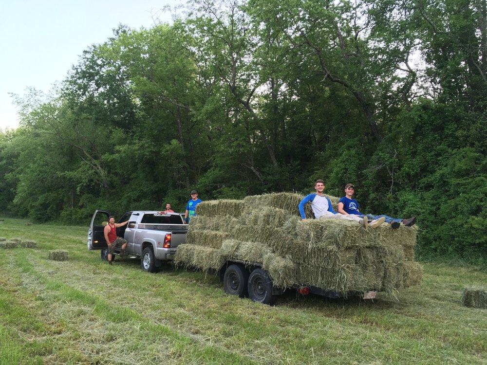 Hay Farmer Mark Daye and Crew