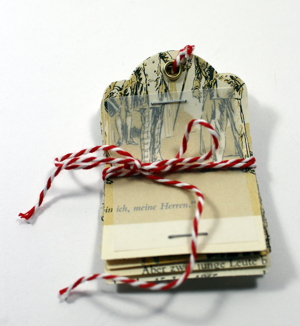 vintage paper gift tags Christmas