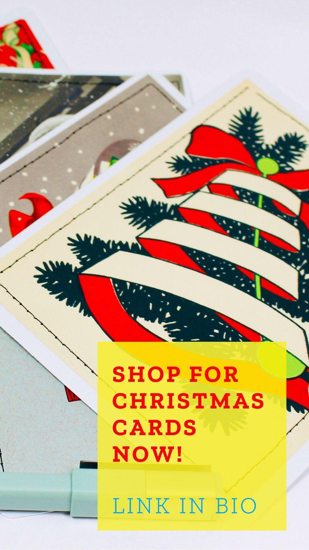 upcycled christmas cards.JPG