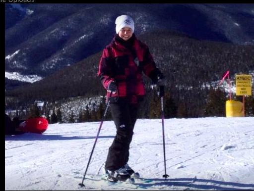 enjoying a beautiful day skiing in Vail, colorado