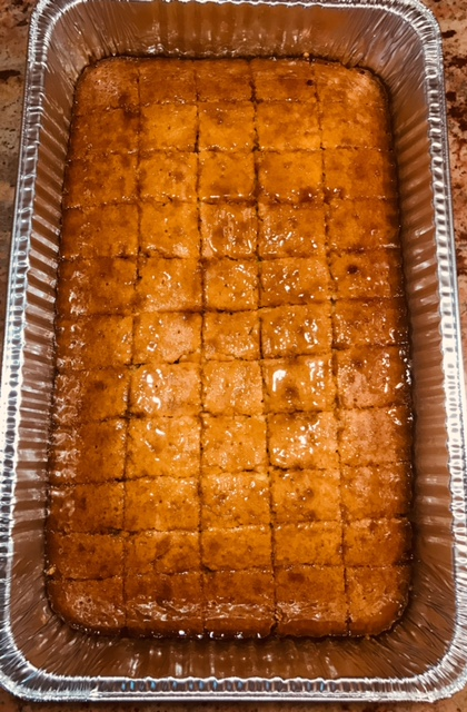 Vanilla/honey glazed topping Cornbread