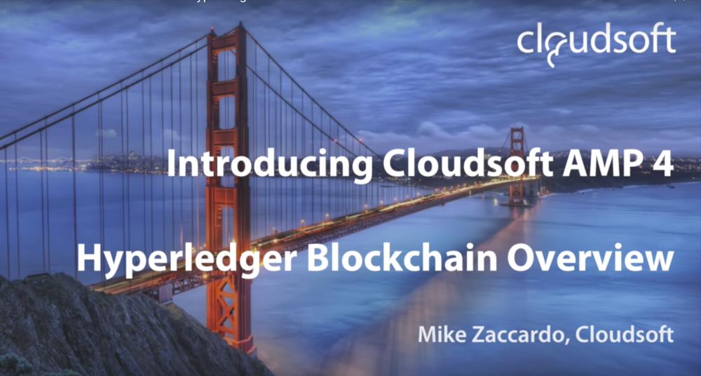 Cloudsoft Blockchain Service
