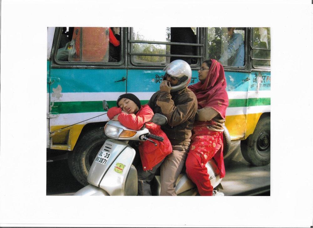 Indian Family on a Bike (India 2008 ©MiloMcKinnon)