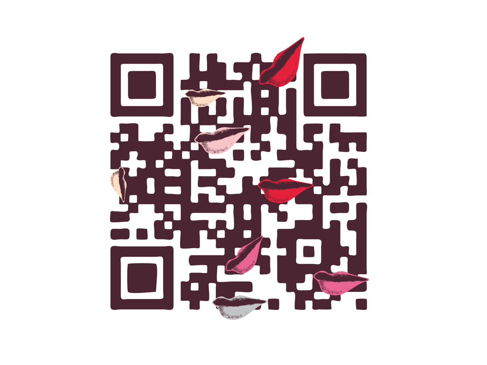 Custom QR code for the launch of home on the DVF website.