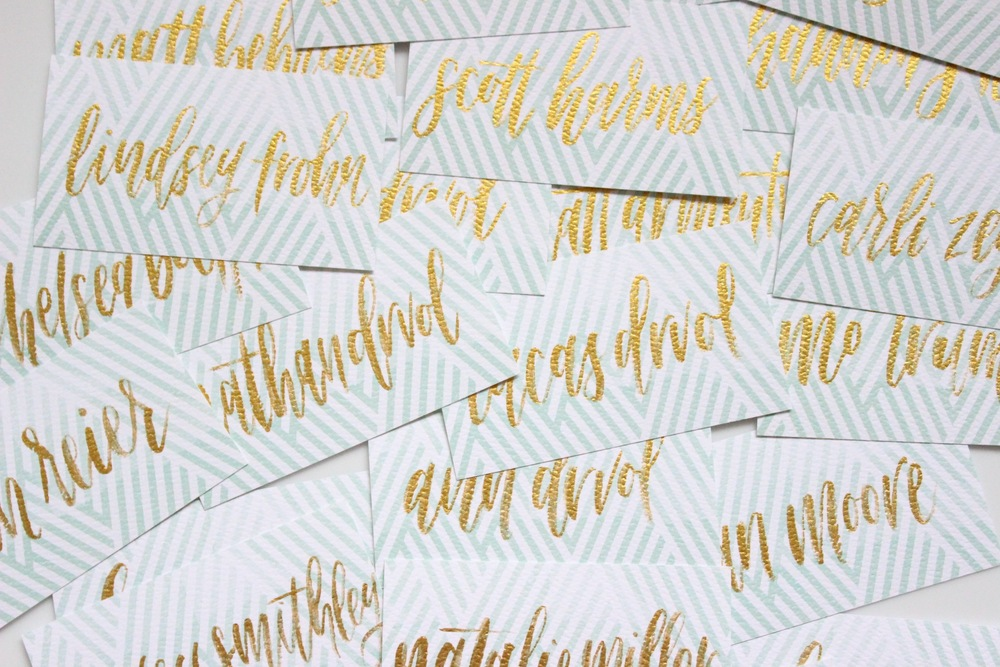 Miranda Writes | Brushed Place Cards