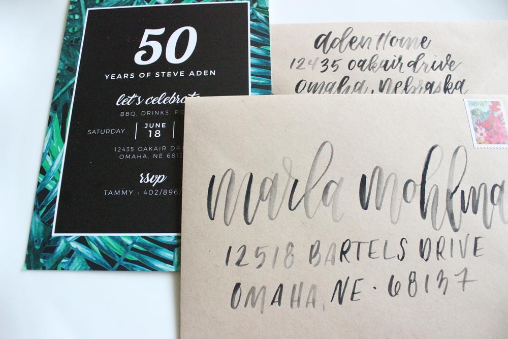 Palm Leaf 50th Birthday Suite