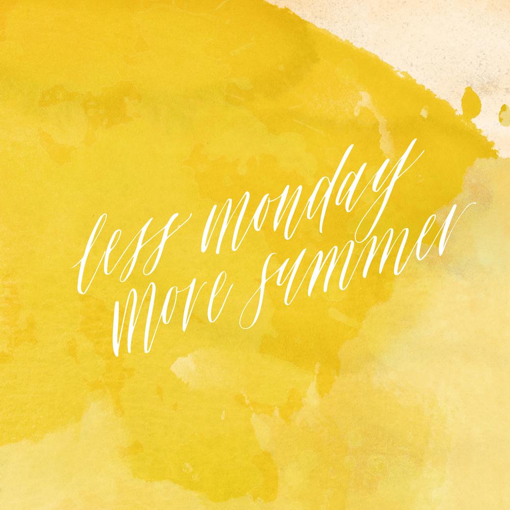 Miranda Writes | Less Monday More Summer PLZ