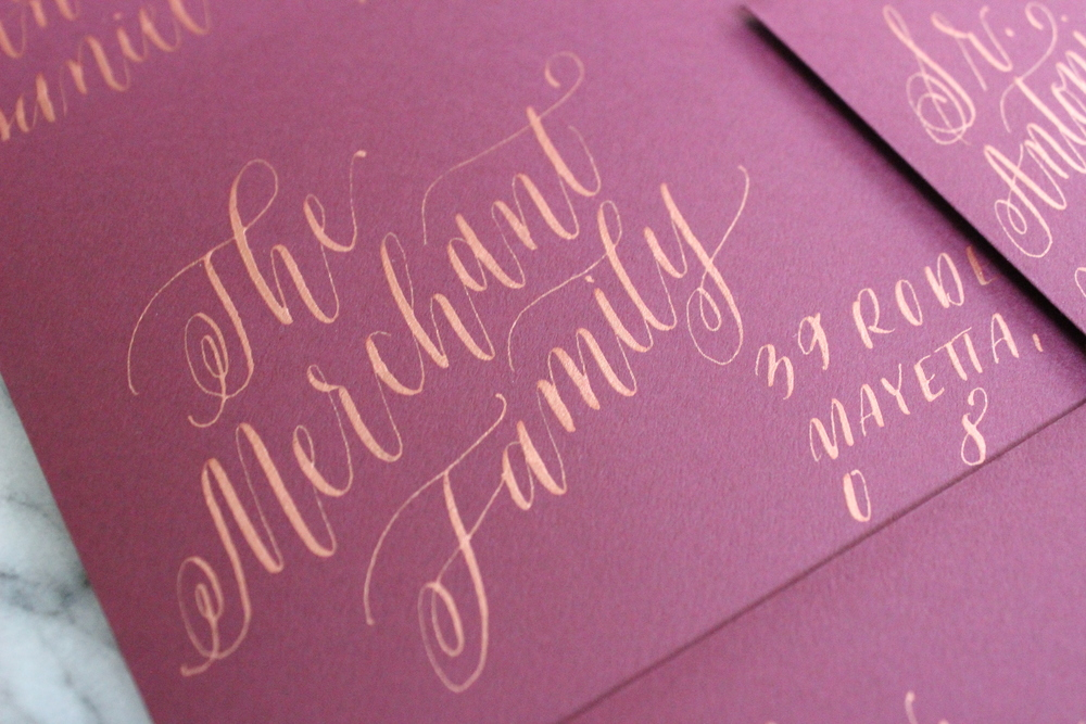 Rose Gold Calligraphy | Miranda Writes