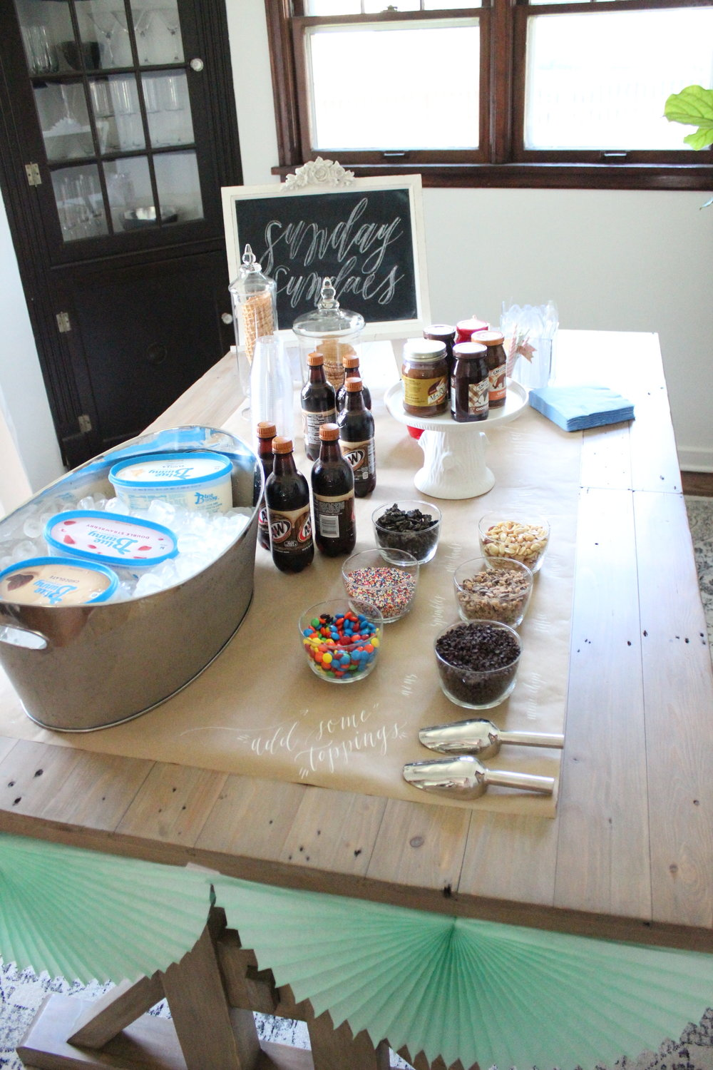 Ice Cream Sundae Bar | Miranda Writes | Housewarming Party Ideas