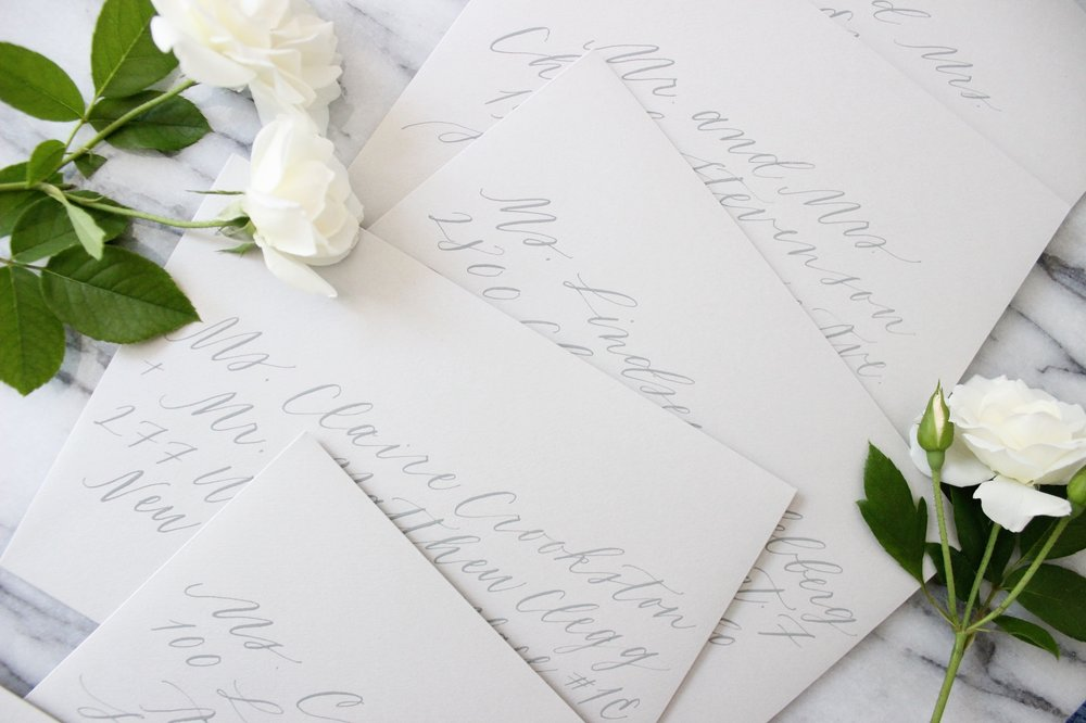 Miranda Writes | modern calligraphy + wedding invitations