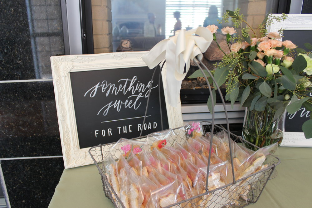 Miranda Writes: Bridal Shower Signage and Floral