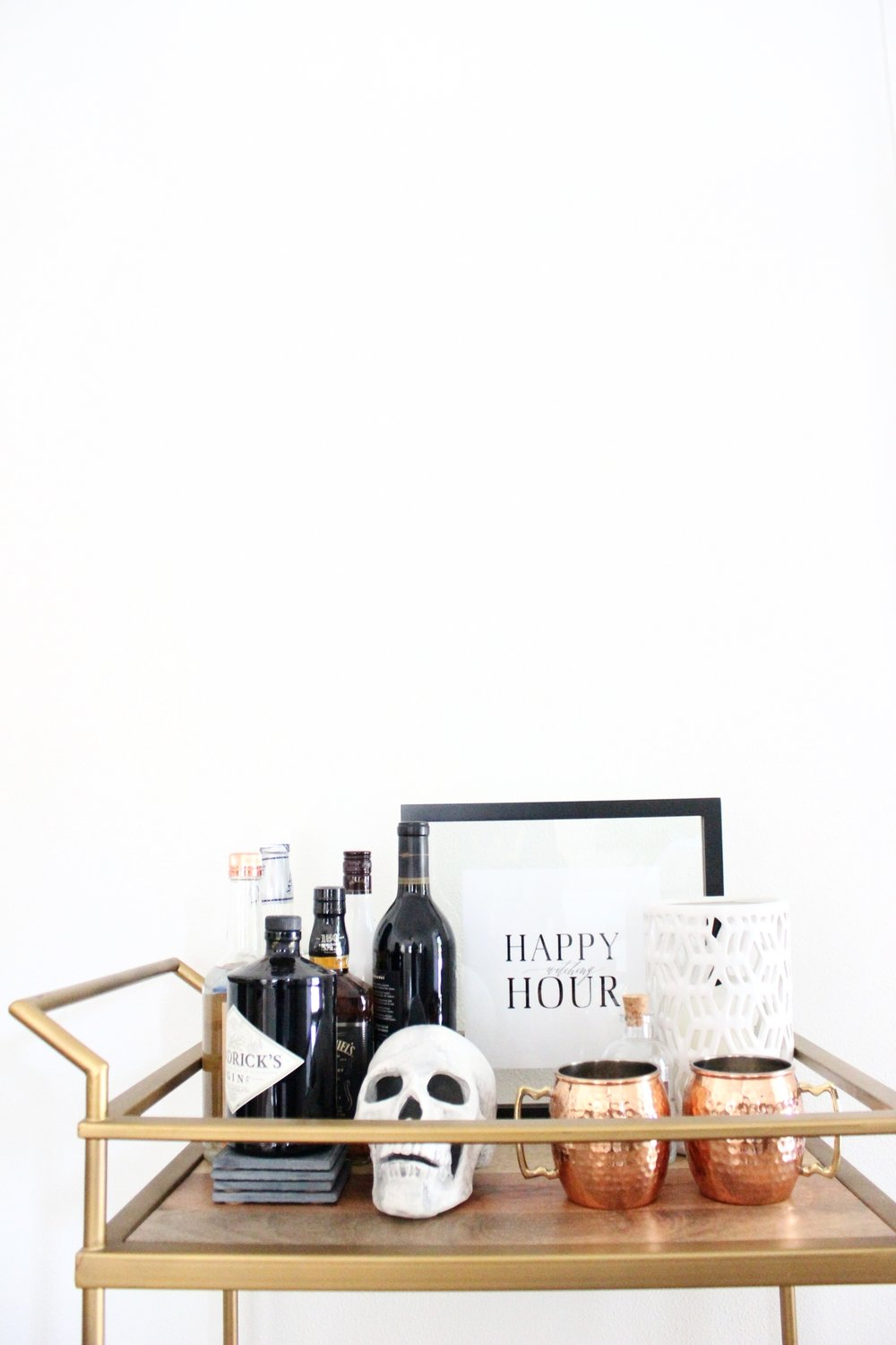 Miranda Writes | Halloween Bar Car | Free Happy Hour Print